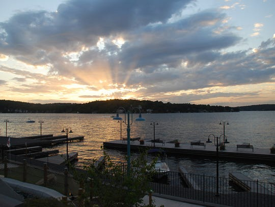 Lake Hopatcong at sunset.