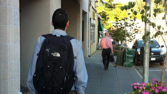 Check any train platform, park-and-ride lot or commuter bus stop, and you'll see more backpacks than briefcases.
