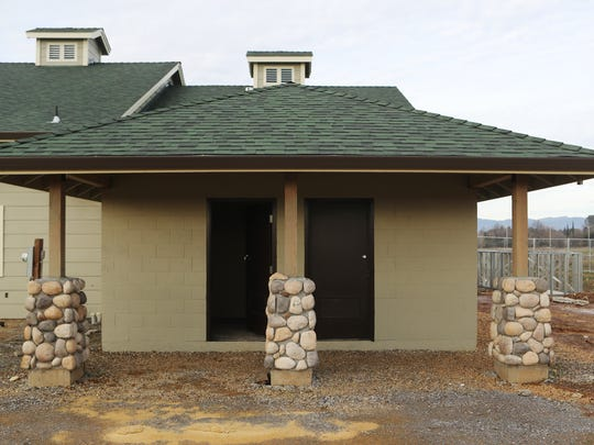 The Shasta Trinity Fly Fishers have installed public bathrooms at their new clubhouse in Clover Creek Preserve.