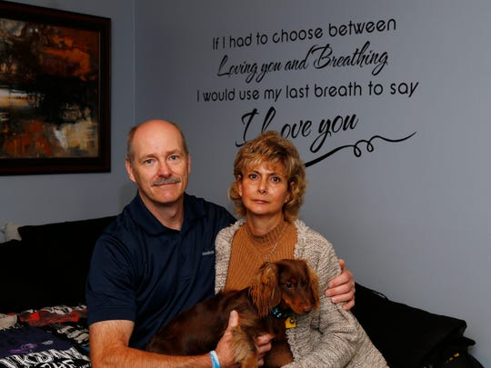 Chuck and Shelley Levchak at their home in Kirkwood