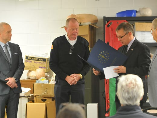 Surprised fire chief honored as a Sagamore