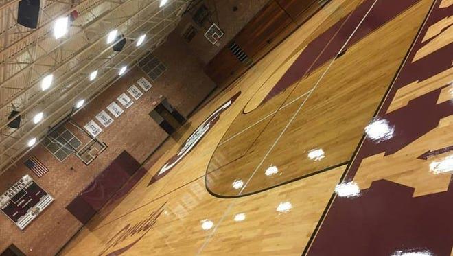 Swain County's new gym floor.