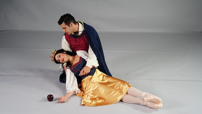"""Snow White will be played by Mia Carvalho and Prince Charming will be played by James Vargas in the Corpus Christi Ballet production of """"Snow White and the Seven Dwarfs"""" on Saturday and Sunday at American Bank Center's Selena Auditorium."""