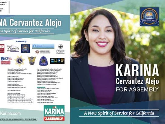 Karina Cervantez Alejo campaign's sent out these mailers.