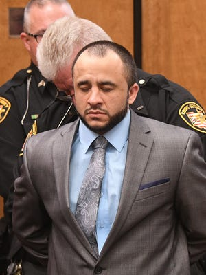 Christen Ramirez is taken into custody as the jury's guilty verdicts are read by Judge Brent Robinson on Tuesday.