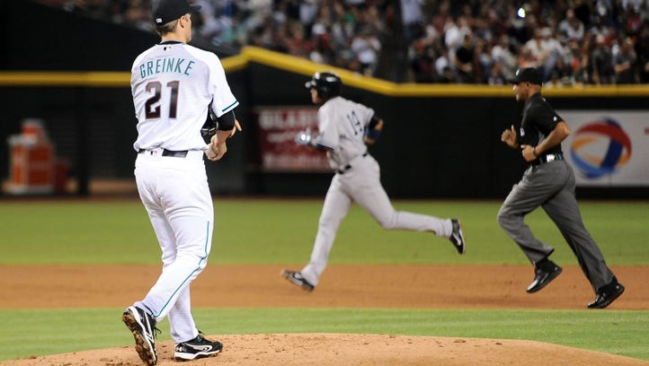 Zack Greinke, the National League Cy Young Award runner-up in 2015 with the Dodgers, had a 6.63 ERA in his first six home starts for the Diamondbacks.
