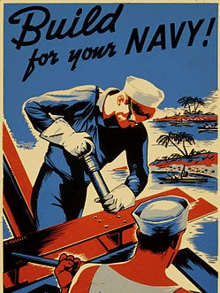 A recruitment poster for the Navy.