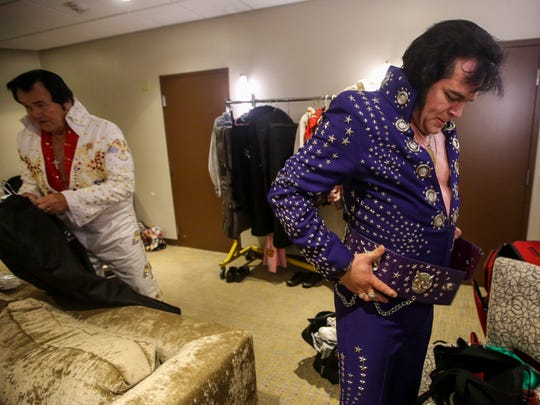 Johnny gets dressed before taking the stage for his