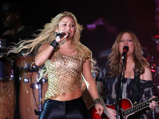 Colombian singer Shakira performs during