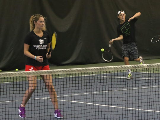 Sylvia Goldsmith and Luke Webster won mixed doubles in the 85th News Journal/Richland Bank Tennis Tournament, beating defending champs Jansen Webster and Katie Volz in the finals at Lakewood Racquet Club.