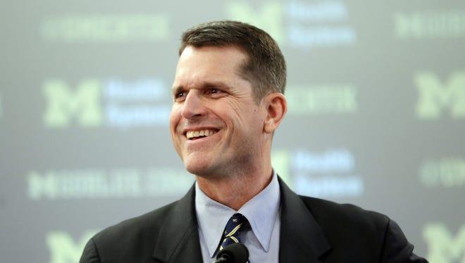 Jim Harbaugh, Michigan's new head football coach.