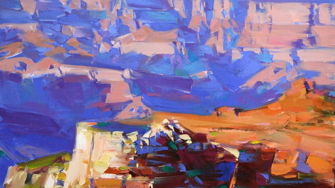 """The original artwork """"Canyon Shadows"""" by Vahe Yeremyan is available for purchase at ugallery.com."""