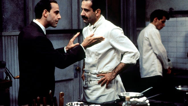 "Stanley Tucci, left, and Tony Shalhoub co-star in ""Big Night,"" the story of two Italian immigrant brothers attempting to save their failing restaurant business."