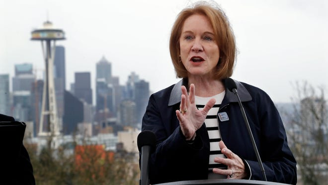 """Seattle Mayor Jenny Durkan said Wednesday that the city is considering tolling some downtown roads to try to ease the city's traffic gridlock. Such """"congestion pricing"""" is used in some European cities but so far no U.S. cit has established such a system."""