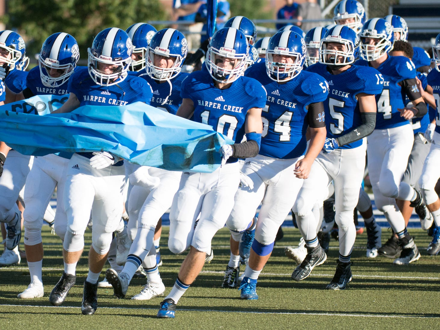 The Harper Creek Beavers take the field Thursday night as they prepare to face off against the Northwest Mounties.