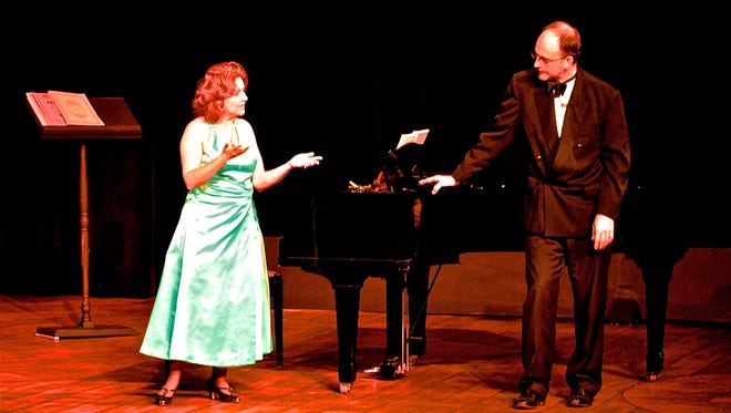 """Souvenir"" at Richmond Civic Theatre stars Jared Adamson as Cosmé McMoon, and Alisa Clapp-Itnyre as Florence Foster Jenkins."