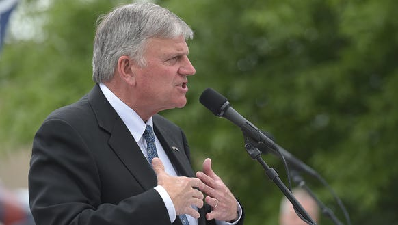 Franklin Graham held a prayer rally at the Tennessee