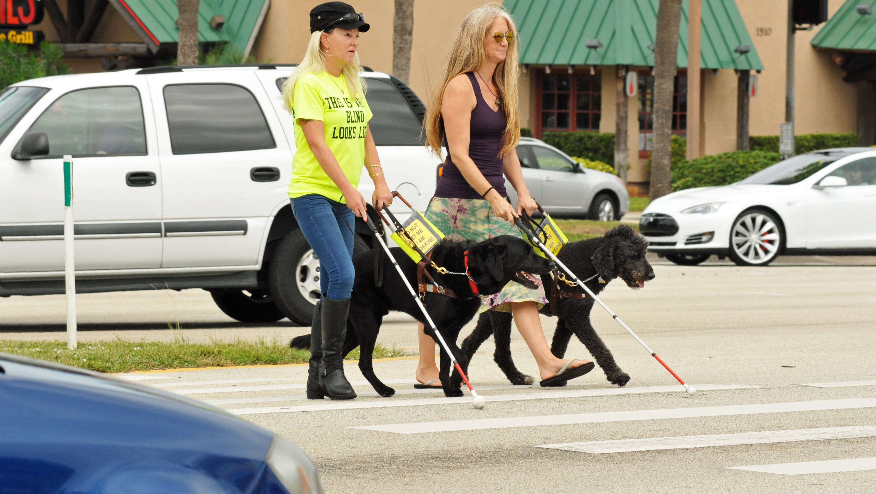Photos Legally Blind Women Promoting White Cane Safety Day