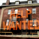 """""""Help Wanted"""" signs like this one in Philadelphia are going up around the country"""