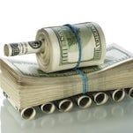 Money tanks.