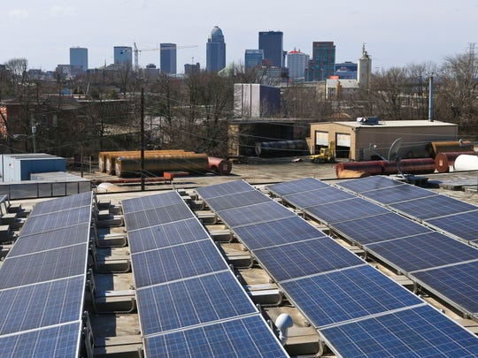 The Copper & Kings Distillery in Butchertown has installed solar panels to supplement energy needs. Solar Over Louisville is a program of the Louisville Sustainability Council with the mission to promote the growth of solar energy.