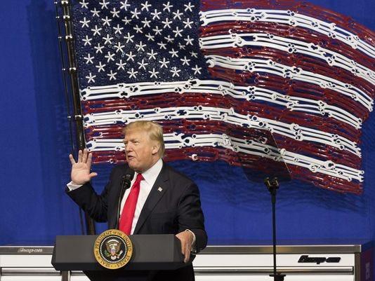 Donald Trump Oversees Groundbreaking Of Foxconn In Wisconsin