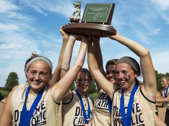 Delone Catholic won the PIAA District 3 AA softball title by defeating Kutztown 10-3 at Lebanon Valley College on Thursday. It was the Squirettes first District 3 softball championship since 1999.