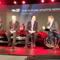 Stars come out for Indy race car Detroit reveal