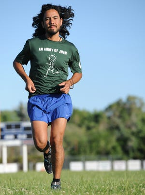 Juan De Oliva, 29, is attempting to run the entire Reno Tahoe Odyssey this weekend...solo.