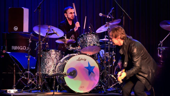 Ringo Starr and His All Starr Band perform at a press event to promote an upcoming tour of South America ending in Las Vegas.
