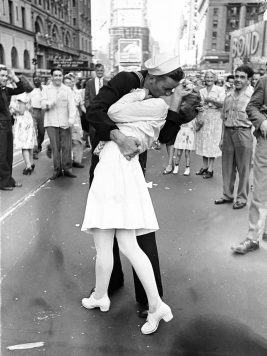 The surprising truth behind the classic VJ Day photo of a