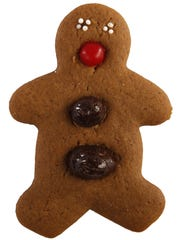 Christmas and holiday cookies, like this gingerbread