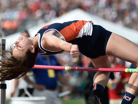 Galion's Marisa Gwinner is one of the title contenders in the Division II high jump.