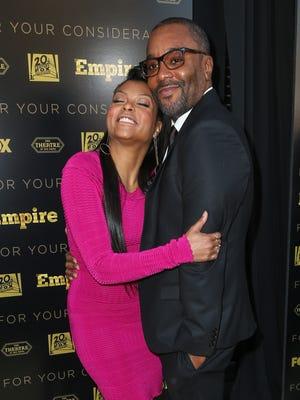 'Empire' star Taraji P. Henson hugs series co-creator Lee Daniels.