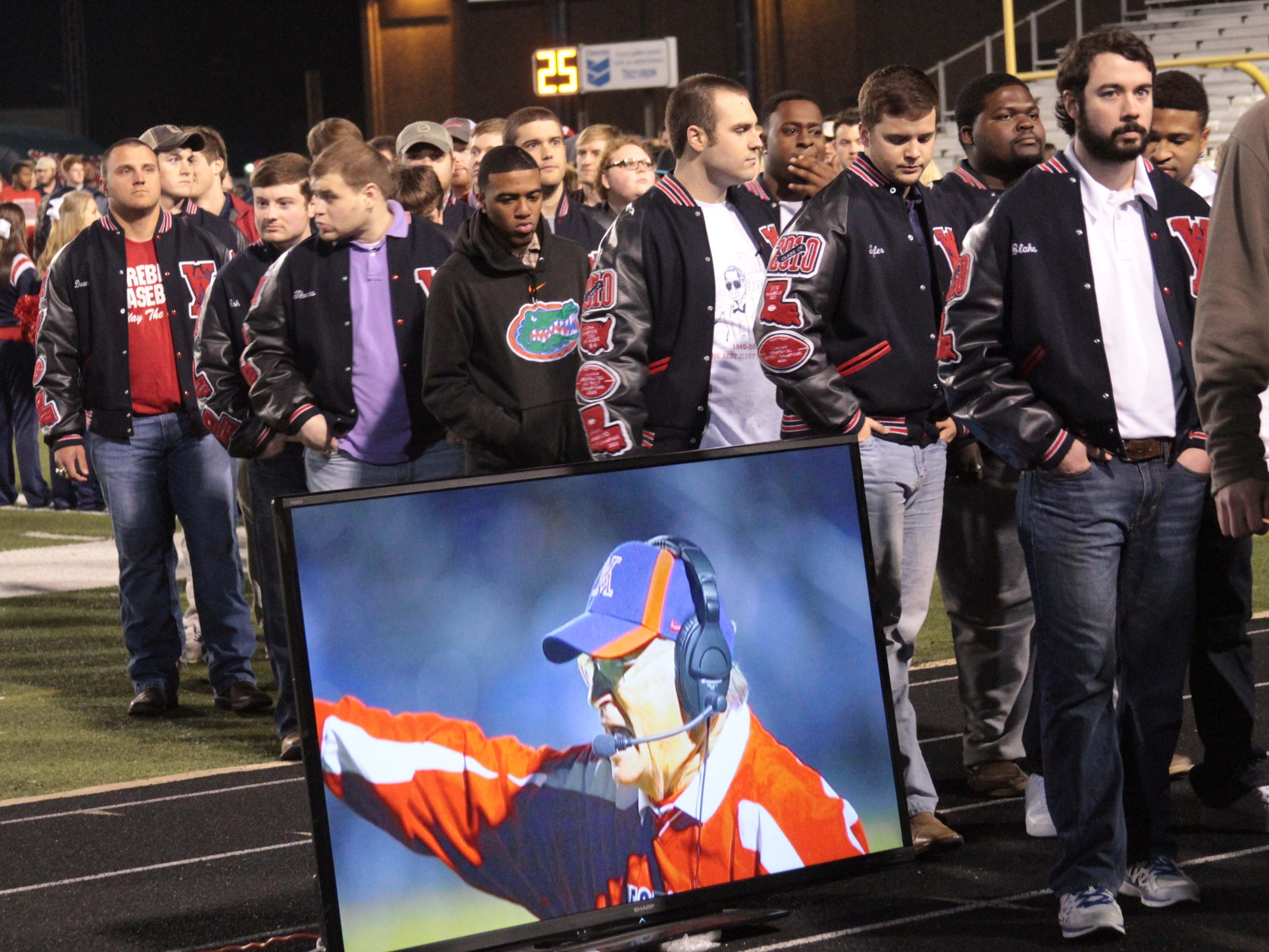 The life of legendary West Monroe coach Don Shows was memorialized at a service in Rebel Stadium on Friday.