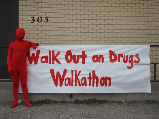 Seventh grader Josiah Miranda wore a morphsuit to celebrate red out day for Red Ribbon Week.