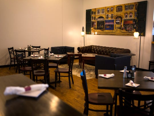 The dining area at Vino Vita at Fromage Culinaria in