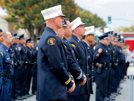 Salinas police and firefighters came together to participate