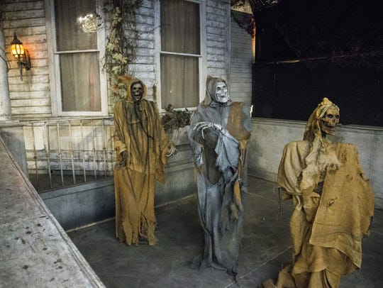 A haunted-mansion set at the 13th Floor in Phoenix