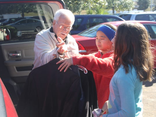 Bernie Blizzard drops off winter coats during the Tallahassee