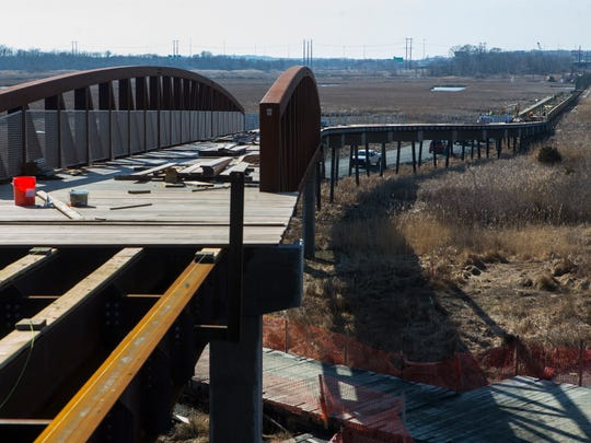 Construction continues on the new Jack A Markell Trail, a multimodal path that will give cyclists a way to travel from the Wilmington Riverfront to Old New Castle scheduled to open in June.