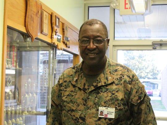 Retired Col. Joseph Martin Jr. is the ROTC instructor at Alexandria Senior High School and the pastor of Second Union Missionary Baptist Church. The church has a security plan, but Martin says he does not want weapons inside the church or on its property.