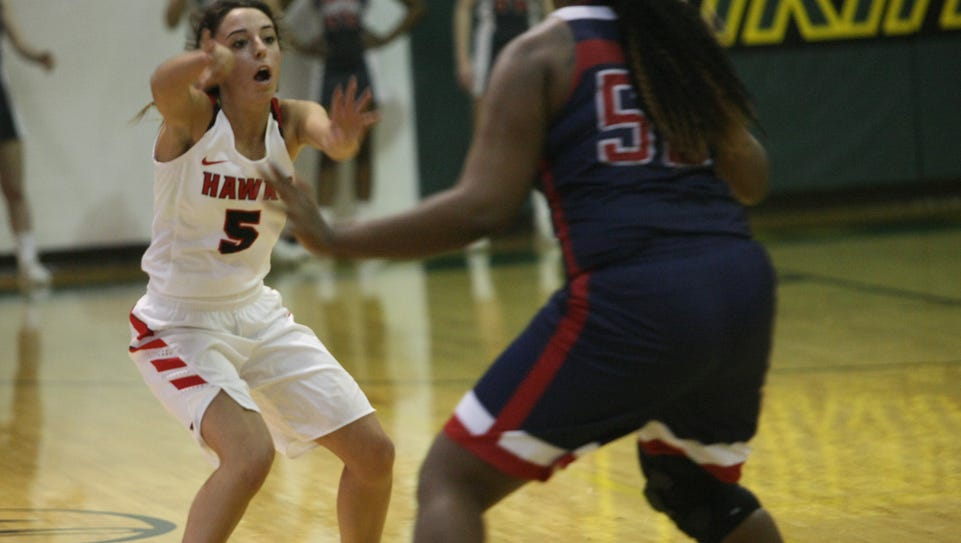Rossview's Holly Sellers (5) passes the ball to a teammate