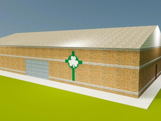 A rendition of the proposed new multi-purpose building under consideration at St. Patrick Parish in Portland