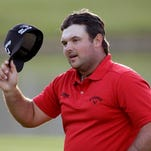Patrick Reed waves after winning the Humana Challenge on Sunday in La Quinta, Calif.