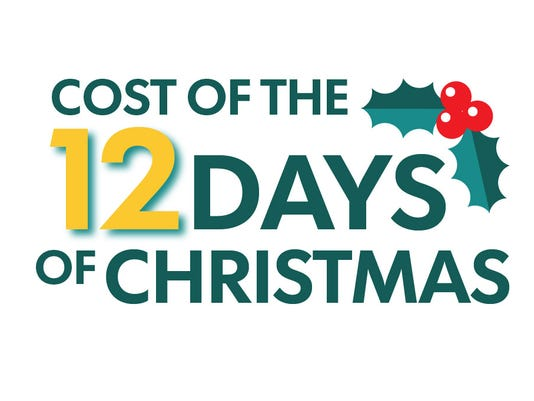 636160294455283169 12 days promo artjpg the cost of - 12 Days Of Christmas Cost