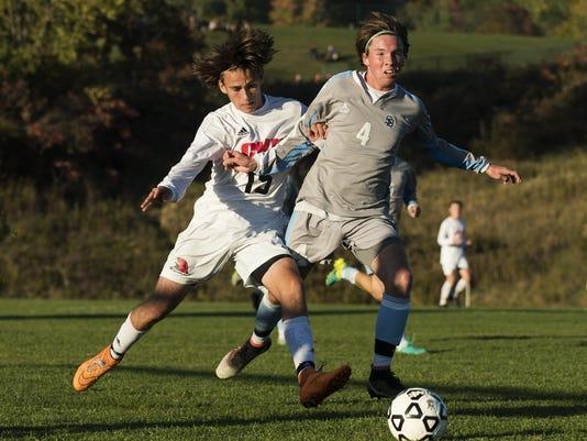 South Burlington vs. CVU Boys Soccer 10/10/16