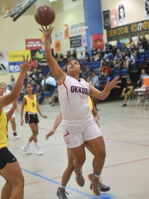 The Okkodo Bulldogs played the George Washington Geckos in an Independent Interscholastic Athletic Association of Guam Girls Basketball League game at Okkodo on Oct. 28.