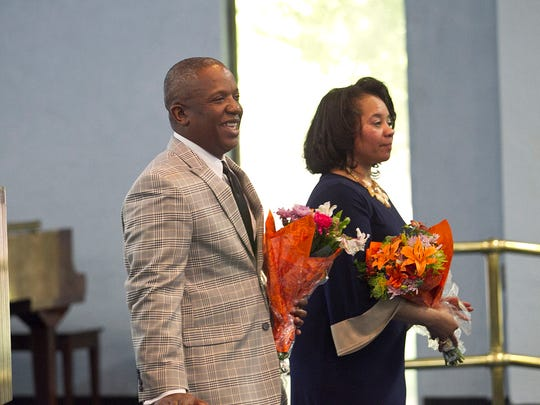 Pastor Christopher McCoy was honored for his work with