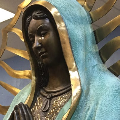 The statue of the Virgin Mary inside Our Lady of Guadalupe